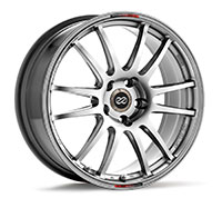 Enkei GTC01 Wheel Rim 17x7 4x100  ET38 75 Hyper Black