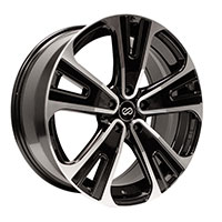Enkei SVX Wheel Rim 18x8 5x114.3  ET40 72.6 Black Machined