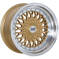 ESM 002R Wheel Rim 16x9 5X100 ET15 57.1 Gold/ Machined Lip