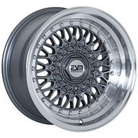ESM 002R Wheel Rim 16x9 5X100 ET15 57.1 Gunmetal/ Machined Lip