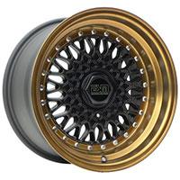 ESM 002R Wheel Rim 15x7 4x100 /5x100 ET15 57.1  Matte Black/ Bronze Lip