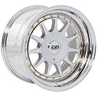 ESM 003R  Wheel Rim 16x8 4x100/5x100 ET20 57.1 Full Platinum/ Gold Rivets