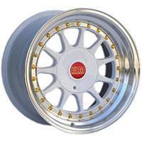 ESM 003R  Wheel Rim 16x8 4x100/5x100 ET20 57.1 White/ Machined Lip