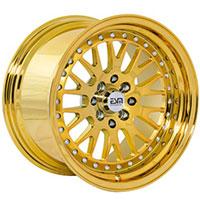 ESM 007 Wheel Rim 15x8 4x100/114 ET20 67.1 Full Gold Platinum/ Chrome Rivets