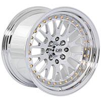ESM 007 Wheel Rim 15x8 4x100/114 ET20 67.1 Full Chrome Platinum/ Gold Rivets