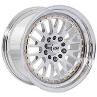 ESM 007 Wheel Rim 17x9 4x100/114.3 ET20 67.1 Full Platinum/ Gold Rivets