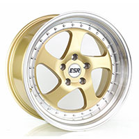 ESR SR02 Wheel Rim 16x9 4X100 ET20 73.1 GOLD/MACHINE LIP
