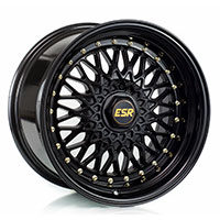 ESR SR03 Wheel Rim 15x8 4X100 ET15 73.1 GLOSS BLACK