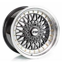 ESR SR03 Wheel Rim 15x8 4X100 ET15 73.1 HYPER BLACK/MACHINEINE LIP