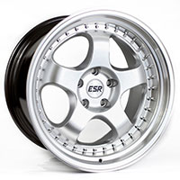 ESR SR06 Wheel Rim 17x8.5 5X100 ET30 73.1 HYPER SILVER/ MACHINE LIP
