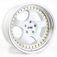 ESR SR06 Wheel Rim 17x8.5 5X100 ET30 73.1 GLOSS WHITE/ MACHINE LIP