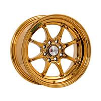 F1R F03 Wheel Rim 15x8 4x100 ET25  Gold Chrome