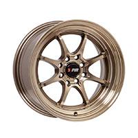 F1R F03 Wheel Rim 15x8 4x100 ET25  Machined Bronze