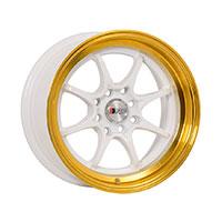 F1R F03 Wheel Rim 15x8 4x100 ET25  White/Gold Lip