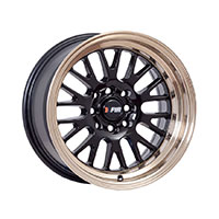 F1R F04 Wheel Rim 15x8 4x100 ET0  Black/Bronze Lip