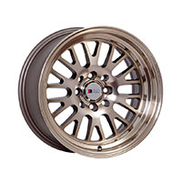 F1R F04 Wheel Rim 15x8 4x100 ET0  Machined Bronze