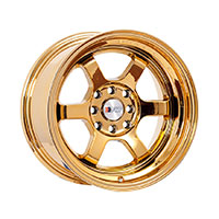 F1R F05 Wheel Rim 15x8 4x100 ET0  Gold Chrome