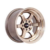 F1R F05 Wheel Rim 15x8 4x100 ET0  Machined Bronze