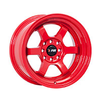 F1R F05 Wheel Rim 15x8 4x100 ET0  Red