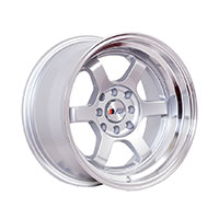F1R F05 Wheel Rim 15x8 4x100 ET0  Silver/Polish Lip
