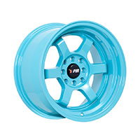 F1R F05 Wheel Rim 15x8 4x100 ET0  Teal