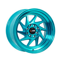 F1R F07 Wheel Rim 15x8 4x100 ET25  Machined Teal