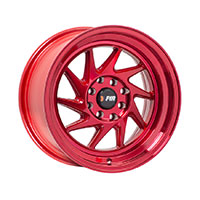 F1R F07 Wheel Rim 15x8 4x100 ET25  Machine Red