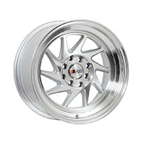 F1R F07 Wheel Rim 15x8 4x100 ET25  Machine silver/Polish Lip