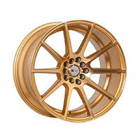 F1R F17 Wheel Rim 17x8 5x100 ET35  Machined Gold