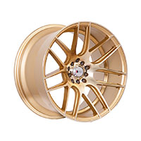 F1R F18 Wheel Rim 17x8 5x100 ET35  Machined Gold