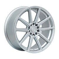 F1R F27 Wheel Rim 18x8.5 5x100 ET40  Machine Silver