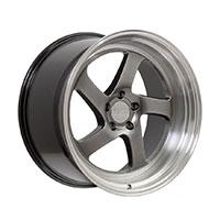 F1R F28 Wheel Rim 17x8.5 5x100 ET38  Hyper Black/Polish Lip