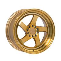 F1R F28 Wheel Rim 17x8.5 5x100 ET38  Machined Gold