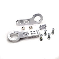 GodSpeed Project Universal Aluminum Cnc Tow Hook Front & Rear Silver