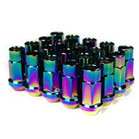 GodSpeed Project Godspeed Type 3 50mm Lug Nuts 20 pcs. Set M12 X 1.5 Neo Chrome