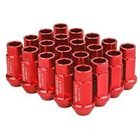 GodSpeed Project Godspeed Type 3 50mm Lug Nuts 20 pcs. Set M12 X 1.5 Red