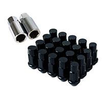 GodSpeed Project Godspeed Type 4 50mm Lug Nuts 20 pcs. Set M12 X 1.25 Black