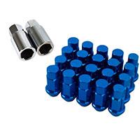 GodSpeed Project Godspeed Type 4 50mm Lug Nuts 20 pcs. Set M12 X 1.25 Blue