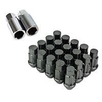 GodSpeed Project Godspeed Type 4 50mm Lug Nuts 20 pcs. Set M12 X 1.25 Gun Metal