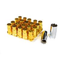 GodSpeed Project Godspeed Type 4 50mm Lug Nuts 20 pcs. Set M12 X 1.25 Gold