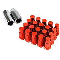 GodSpeed Project Godspeed Type 4 50mm Lug Nuts 20 pcs. Set M12 X 1.25 Red