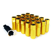 GodSpeed Project Godspeed Type 5 55mm Lug Nuts 20 pcs. Set M12 X 1.25 Gold