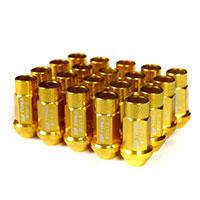GodSpeed Project Godspeed Type 3 50mm Lug Nuts 20 pcs. Set M12 X 1.5 Gold