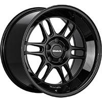 Klutch ML1 Wheel Rim 18x10 5x112-120 ET0-30 73.1 Matte Black/Gloss Black Lip