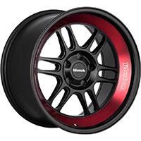 Klutch ML1 Wheel Rim 18x10 5x112-120 ET0-30 73.1 Matte Black/Red Stripe