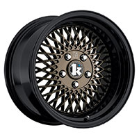 Klutch SL1 Wheel Rim 15x8.5 4x100 ET17 73.1 Bronze Gloss Black Lip