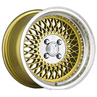 Klutch SL1 Wheel Rim 15x8.5 4x100 ET17 73.1 Gold