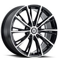 KONIG Impression Wheel Rim 16x7.5 5x100 ET40 73.1 Gloss Black w/ Machined Face