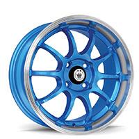 KONIG Lightning Wheel Rim 15x7 4x100 ET38 73.1 Blue/Machine Lip