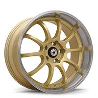 KONIG Lightning Wheel Rim 15x7 4x100 ET38 73.1 Gold/Machine Lip